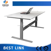 Factory wholesale cheap two motor office computer sit to stand height adjustable desk