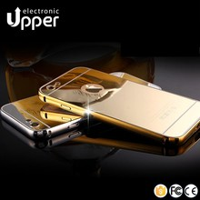 Luxury Aluminum Ultra-thin Mirror Metal Case mobile phone Cover for iPhone 5 5s 6 6s huawei p8 lite oppo mirror 5s