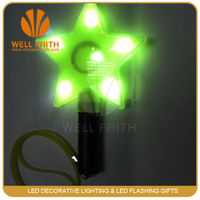 LED sparkling colorful star light stick for christmas