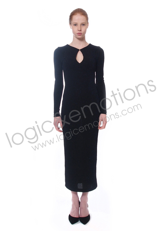 black/navy long dress