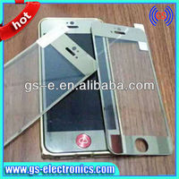 9H anti-scratch clear gold tempered glass screen protector for iPhone 5 5S 5C