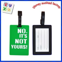 Hot sale promotion gift 3D rubber tags soft plastic name tags