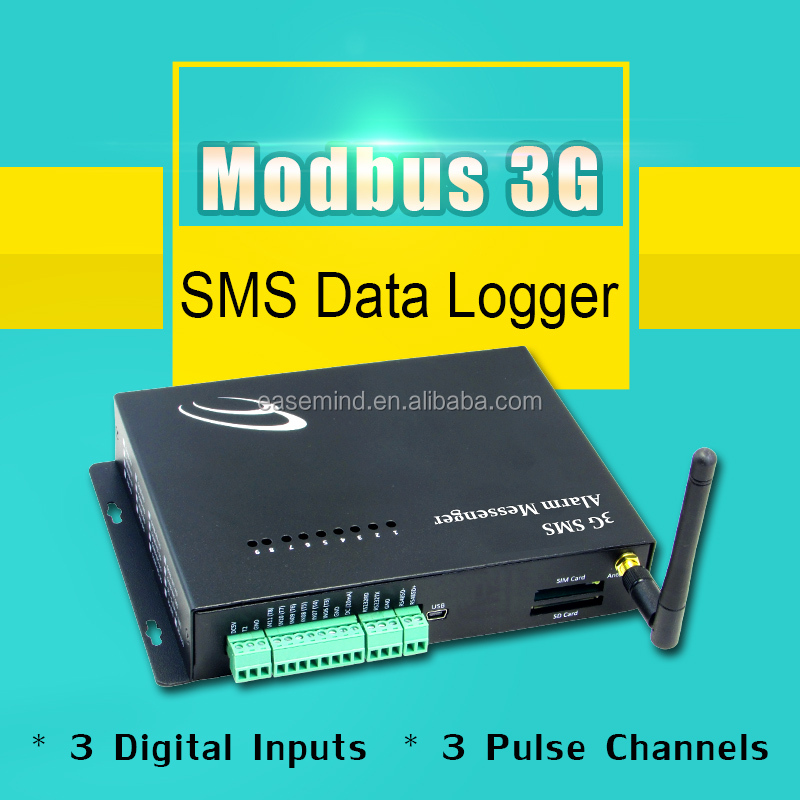 Modbus 3G SMS Data Logger rs232 wireless data transceiver modules