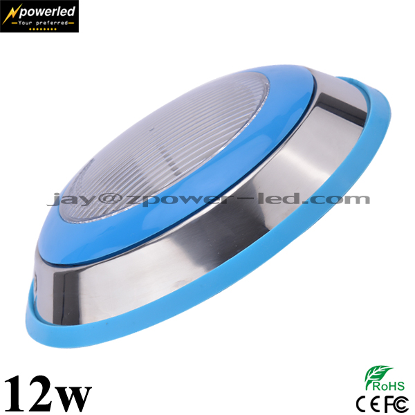 Low voltage Stainless steel plastic 12w led surface mounted pool light