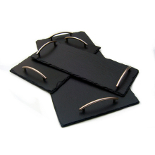 Customized Professional Good price of black slate natural stone slate serving try