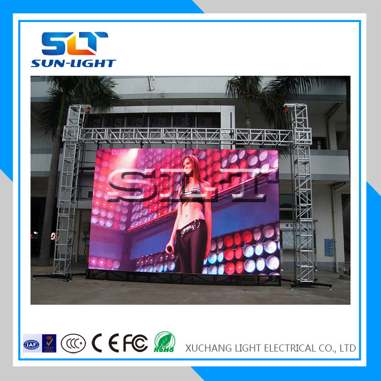 SLT waterproof RGB latest video xxx p10 outdoor led display