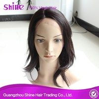 2015 new arrival cheap price 100% human hair low density wig