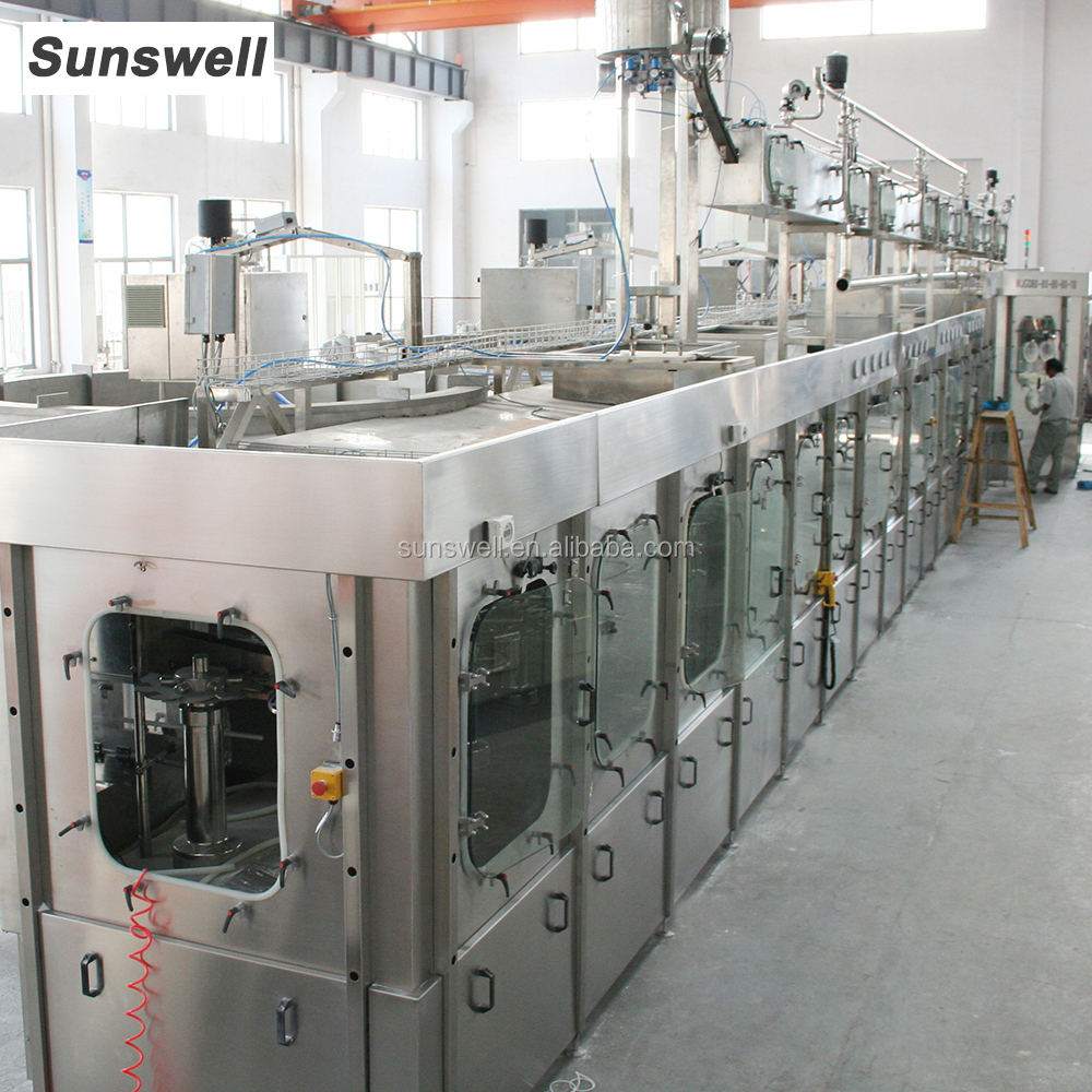 Aseptic filling line for bottled juice machine