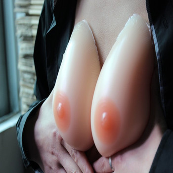 Free Shipping BT900 One Pair silicone false Breast forms Prosthesis Boobs Enhancement for Shemale Cross dresser