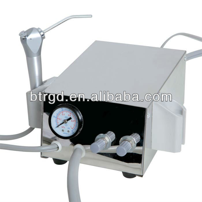 BEST SELLING DENTAL DESK-TOP TURBINE UNIT /Dental Portable Turbine Unit with Air Compressor Suction
