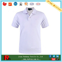 Shandong bulk supplier custom men white polo shirt cheap