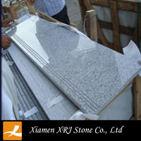 Polished Chinese G603 Granite Prefabricated Stairs