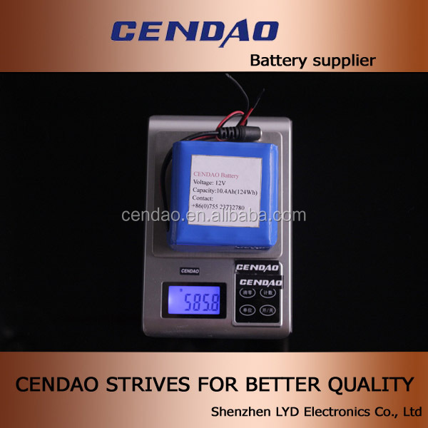 Good quality and price of battery pack 10.4ah 12V lithium battery pack with pcb and connector lithium battery pack
