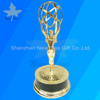 Super Quality Metal Emmy Trophy Prize From Society Awards Factory Directly Sales With 18K Gold Plated