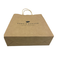 Hot sale recyclable custom grocery brown paper bag