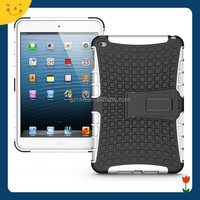 2015 China wholesale! For Apple ipad mini 4 heavy duty hybrid rugged case cover 2 in 1 silm armor kickstand case