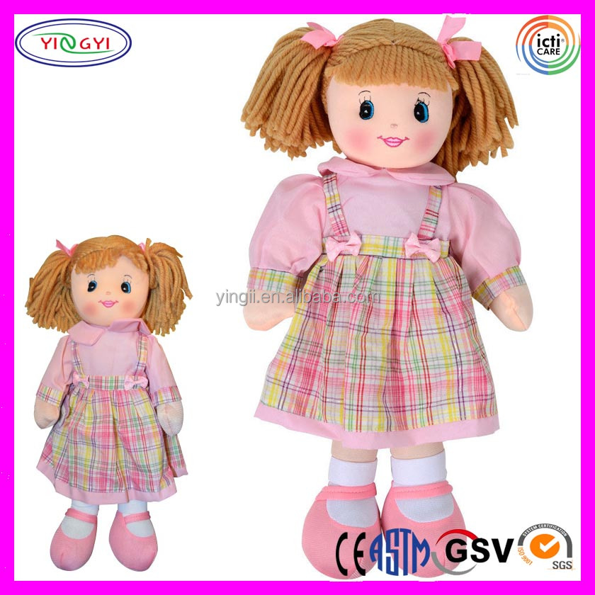 A690 Soft Chinese Style Girl Dress Doll Push Stuffed High Quality Orient Doll with Cloth Shoes