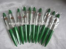 Custom Design Logo Metal / Plastic Liquid Ballpoint Pen For Promotion Free Sample