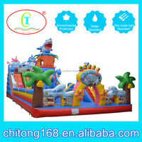 giant outdoor playground inflatable bouncy castle for sale