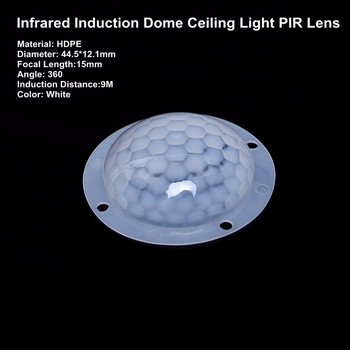 Induction Angle 360 Degree Fresnel Lens For Ceiling Light & pir sensor Indurstrial Use Special Lens