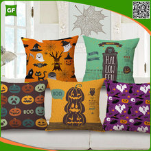 Funny Crazy Halloween Style Digital Printed Polyester Wholesale Cushion Cover High Quality Festival Home Decor