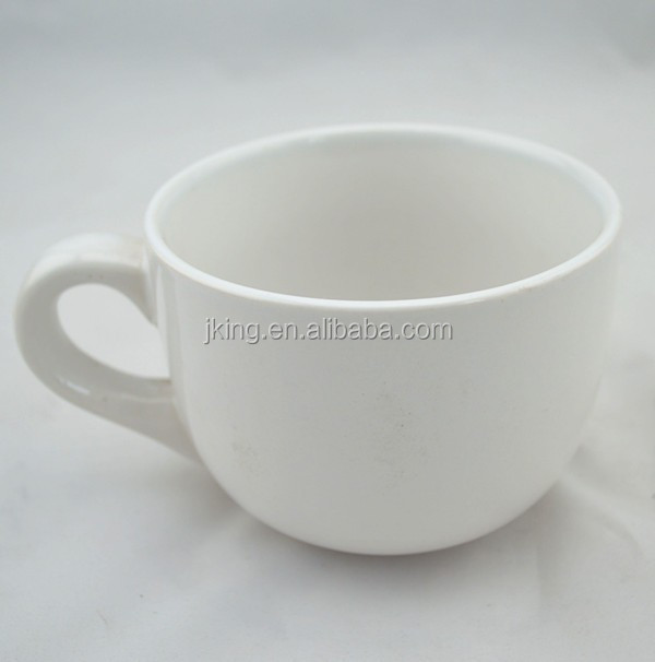 white and black blank ceramic Cappuccino Coffee Mug