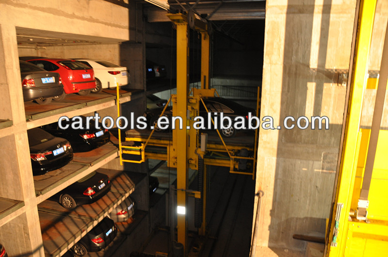 Multi level underground stack car parking garage design
