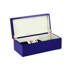 High glossy finished wood wine box with slide lid,cheap wine box,box with a bottle of wine