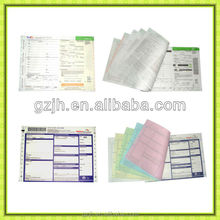 Full Colors Multi-ply NCR Paper Printing high quality low price self-adhesive barcode express paper