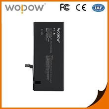 Wopow CE/RoHS/MSDS/UN38.3 full capacity all mobile battery cell phone battery for iphone7