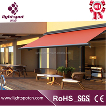 outdoor canopy balcony awning design with awning motor