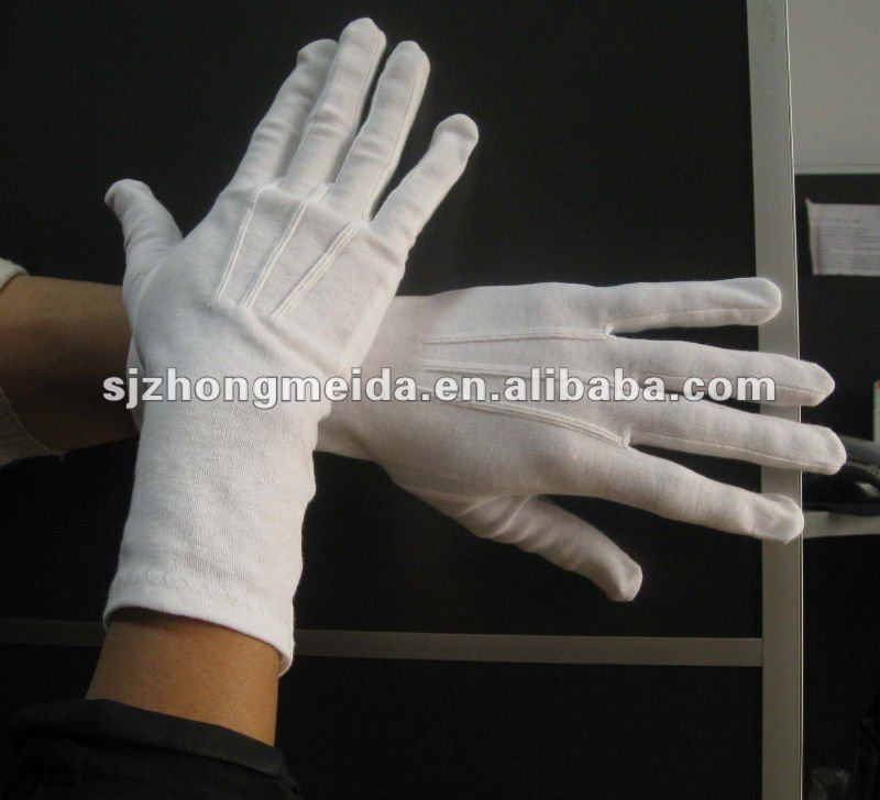 masonic men white cotton gloves