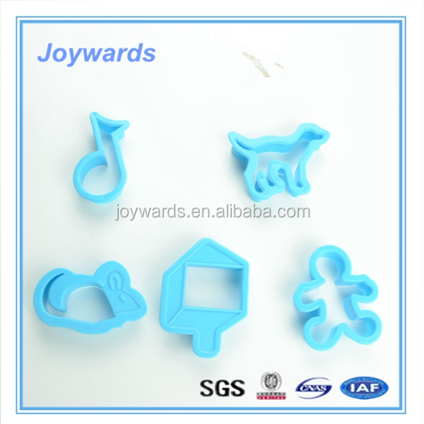 Different shapes cutter plastic chocolate candy cookie cake mold