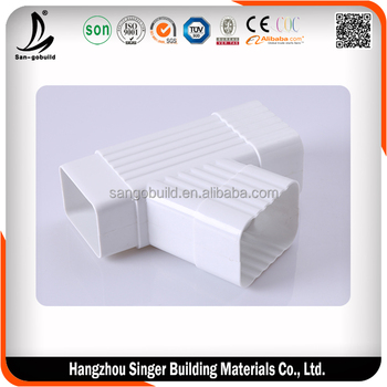 Low price pvc rain gutter, hot sale rain gutter fittings