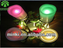 wholesale 7 color battery paraffin candle wax