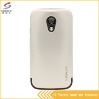 Newest arrival lowest price smart phone cover silver for motorola G2