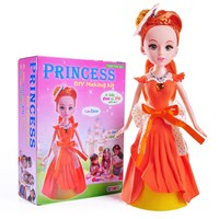 Fancy clay craft toy making kid toy Princess doll gift item for girl