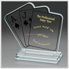 Special Polished Crystal Poker Awards For Tournament Souvenir