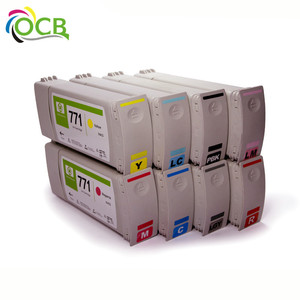 Ocbestjet 771 remanufactured compatible cartridges, for HP z6200 z6600 z6800 recycle printer ink cartridges