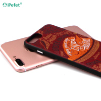 3D colorful water transfer printing sublimation mobile phone case for iphone 7 plus, pc tpu hybrid case