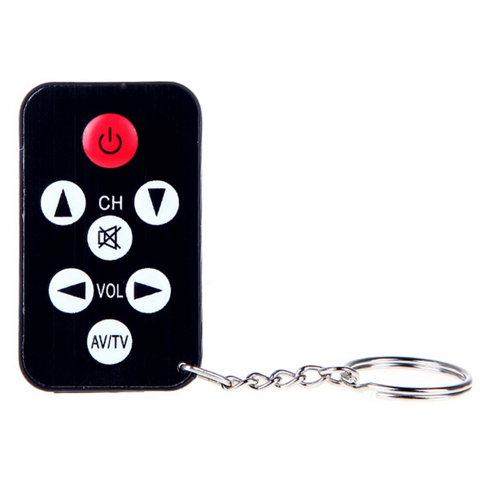 Mini Universal IR TV 7 Keys Remote Control w/ Keychain