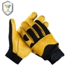 Cool handmade custom mens deer skin leather motorcycle gloves