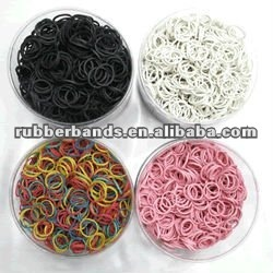 Solid Colored Rubber Band Mini Rubber Band For Tie Money