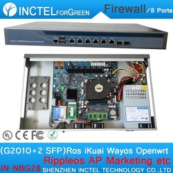Wechat Marketing WIFI Advertising Routes AC Management VPN 1U Firewall Server with G2010 Processor