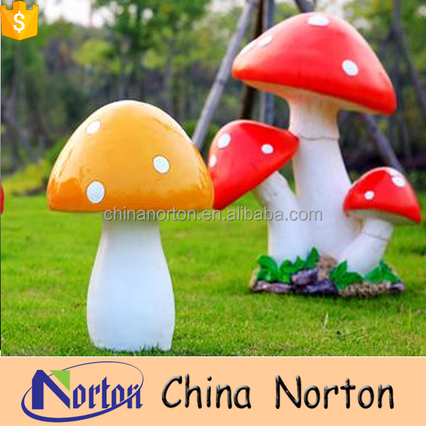 Park usage large mushroom fiberglass custom made sculpture NT--FSA040