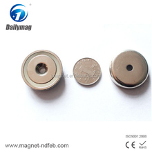 China factory price newly design pot rare earth magnet with thread rod