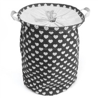 Lovely Heart Shaped Pattern Cloth Storage dirty laundry basket