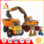 Popular kids plastic play set building blocks construction vehicle toy