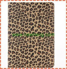 fashional Leopard Grain Leather Case with Kickstand tablet Cover Holder for ipad air 2