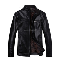 C88323A Factory promotional slim fit quilted leather jacket men